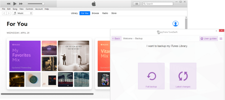 Back up iTunes library with CopyTrans TuneSwift
