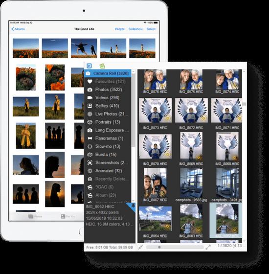 Organize iPhone photos with CopyTtrans Photo
