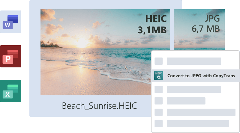 Heic Heif compatible with Microsoft Office