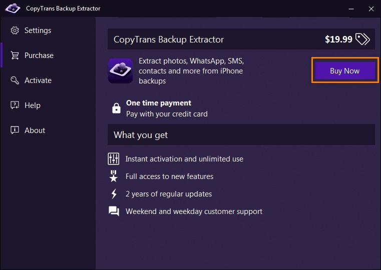 CopyTrans Buy now button