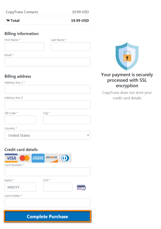 Enter your account credentials