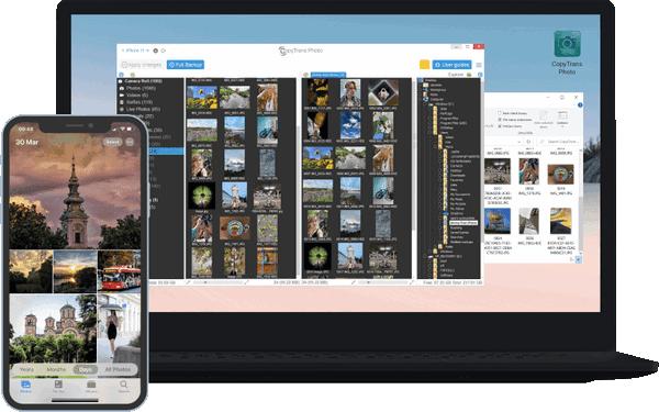 CopyTrans Photo interface