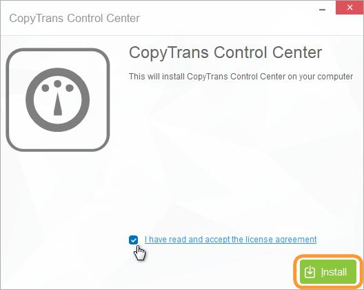 accept copytrans license agreement