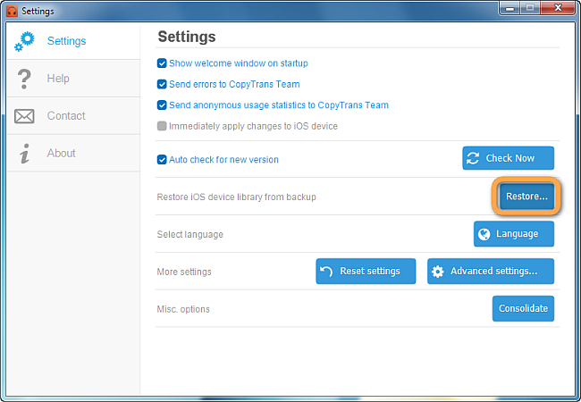 restore ipod library from backup