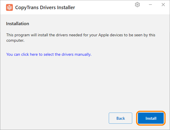 ctdi install drivers to recognise apple device