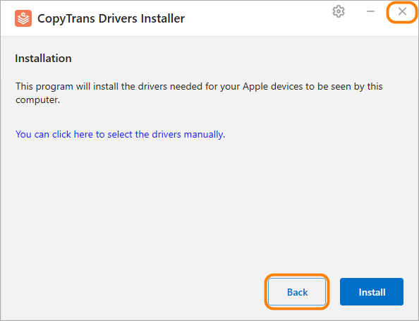 ctdi install itunes from computer