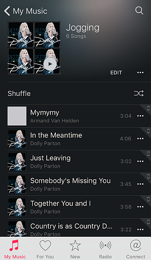 iphone playlist on ios 9