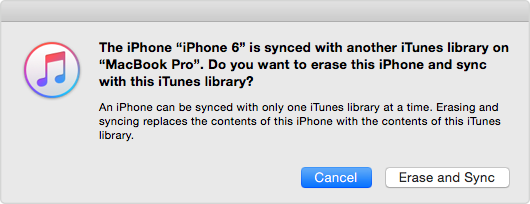 iTunes overwrites your music on iPhone