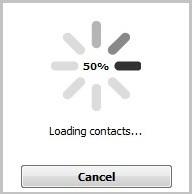 CopyTrans Contacts loading contacts