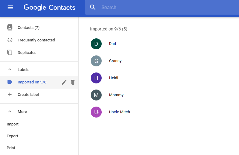 iPhone contacts are synced to gmail now