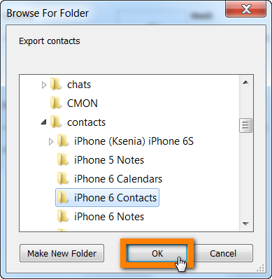 Navigate to the location on your PC