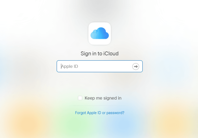 enter your Apple ID and a password