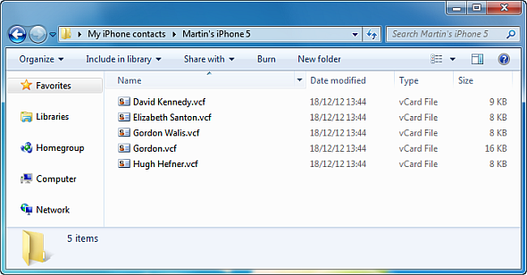 copy iphone contacts outlook