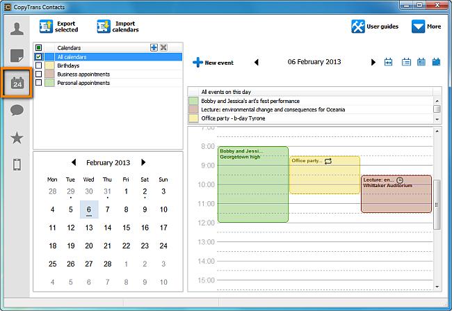 create new iphone calendar