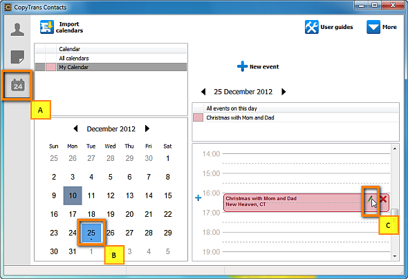 How to set alarm for iPhone calendar events from your PC?