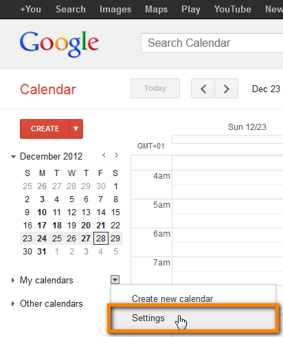 import iphone calendar google