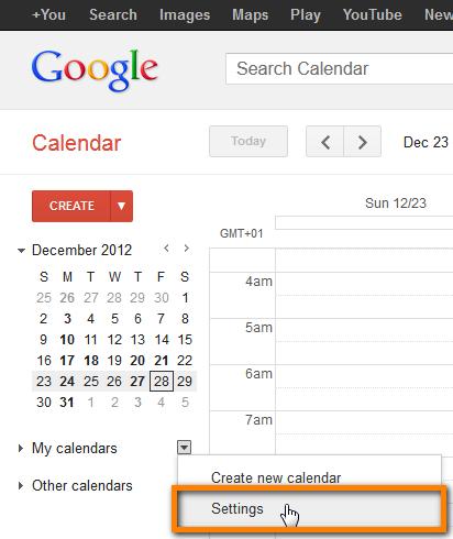 import iphone calendar google