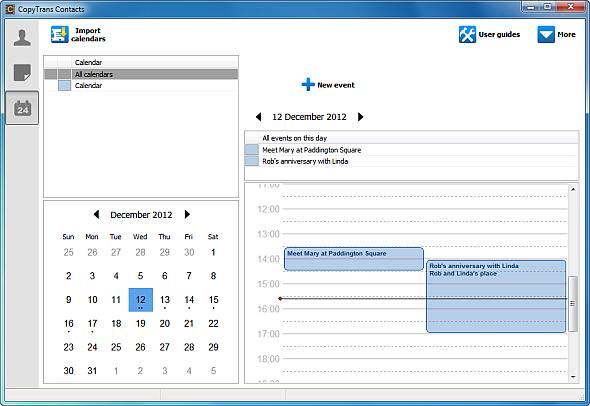 iphone calendar import