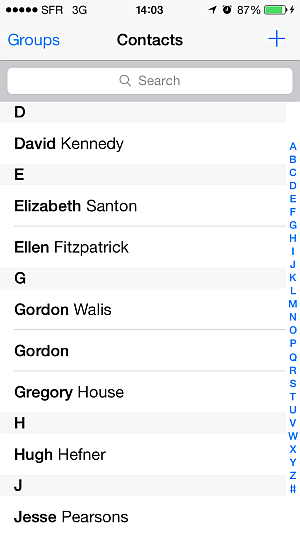 blackberry bold contacts on iphone