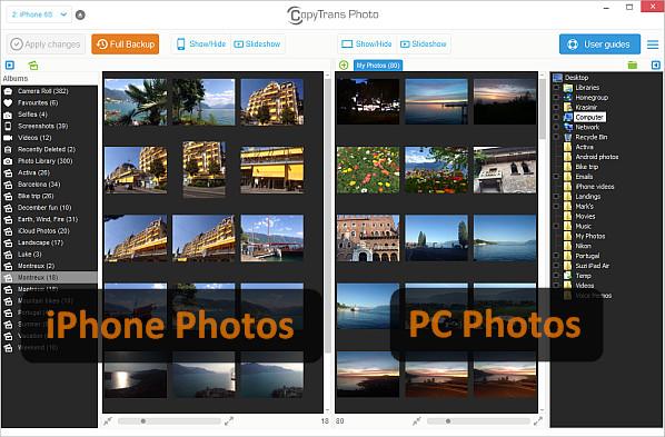 transfer photos ipod
