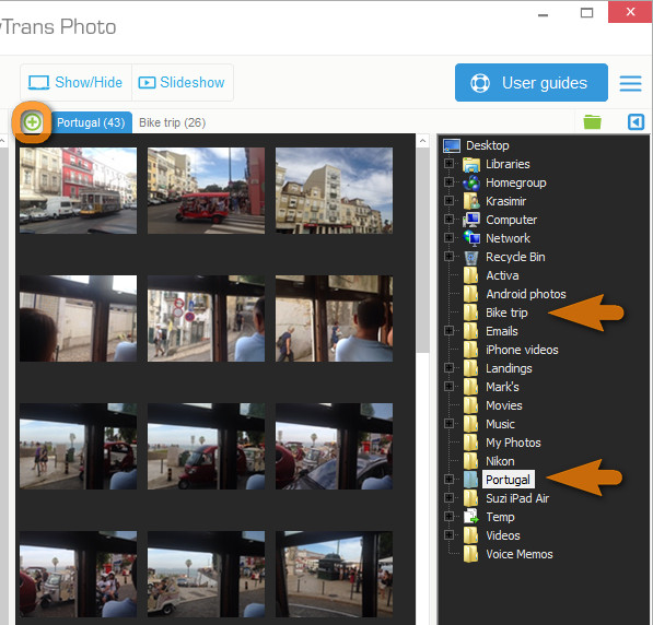 how to delete an iphone photos folder created by pc