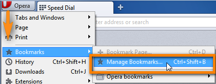 export bookmarks from opera to iphone