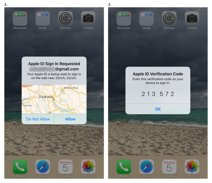 Allow Apple ID sign-in and get the code.