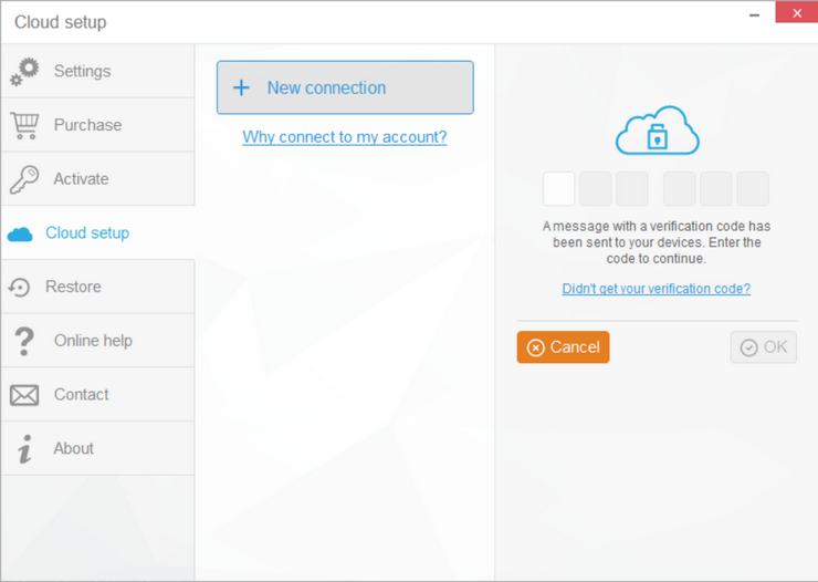 Enter the verification code for iCloud