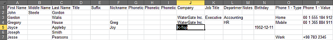 iphone contacts edit in excel