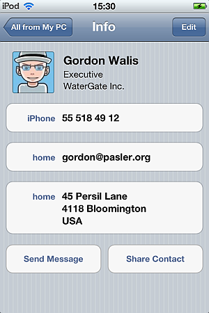 clean iphone contact numbers