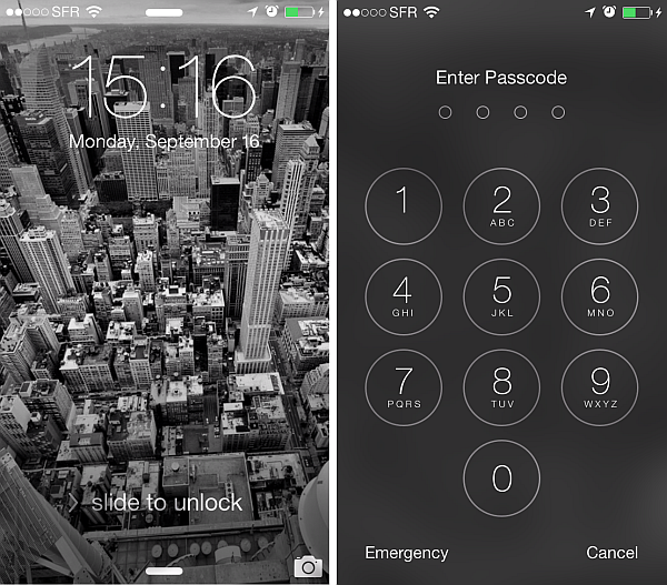 slide to unlock iphone use passcode