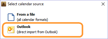 Select Outlook