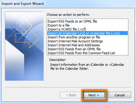 Outlook calendar, how to export iphone calendar