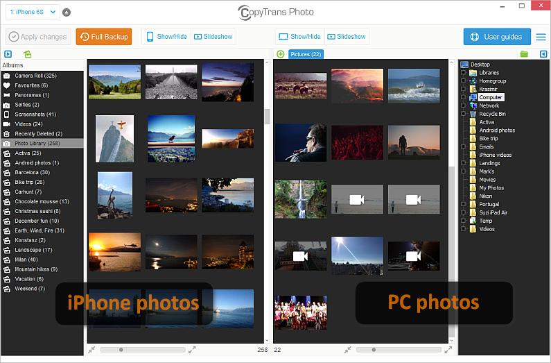 copytrans photo displaying ipad photos and albums