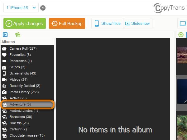 new ipad album appears on pc