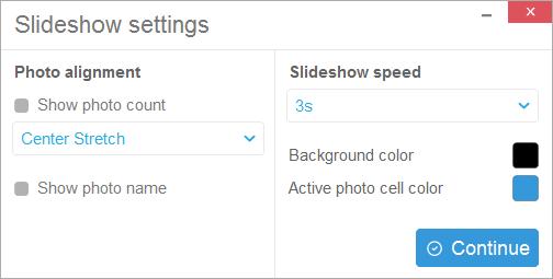 Tune your slideshow