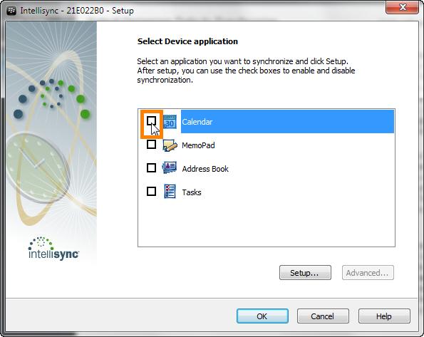 configure blackberry desktop organizer sync settings