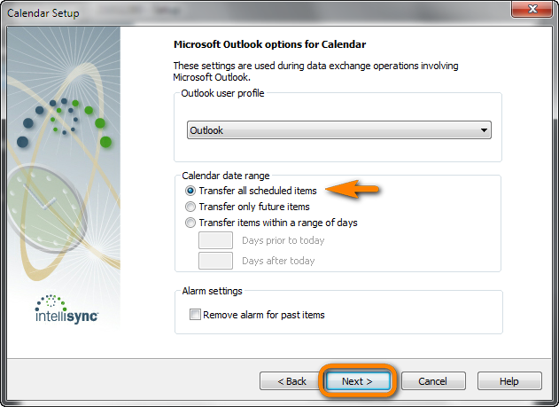 blackberry desktop microsoft outlook options for calendar