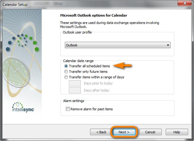 blackberry desktop microsoft outlook options for calendar