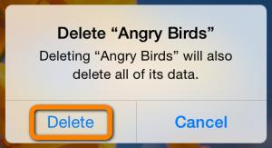 iphone app deletion prompt