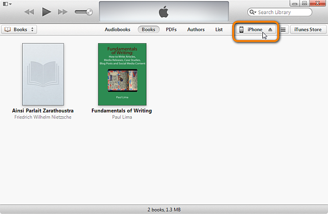 click on iphone once it appears in itunes main window
