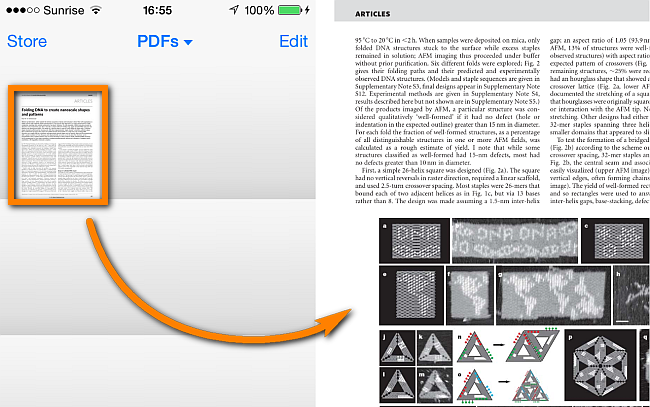 pdf document opens in ibooks on iphone ios 7