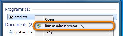 run command prompt as administrator from windows start menu