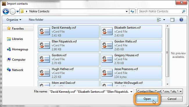 copytrans browse contacts window