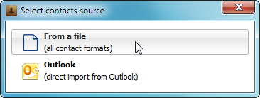 copytrans contacts popup window select contacts source