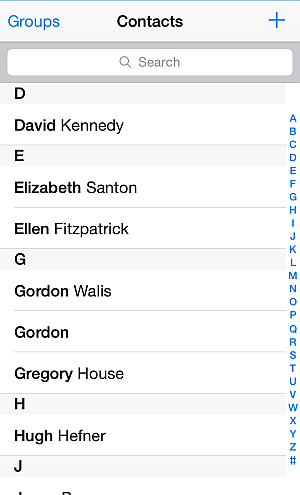 iphone contacts listed in address book