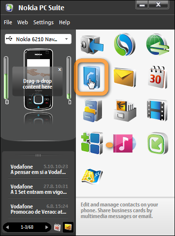 If you have nokia pc suite and want an alternative and easier way.