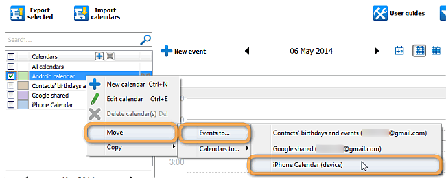 How to transfer Android calendar to iPhone?