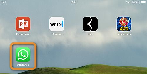 whatsapp icon on ipad home screen