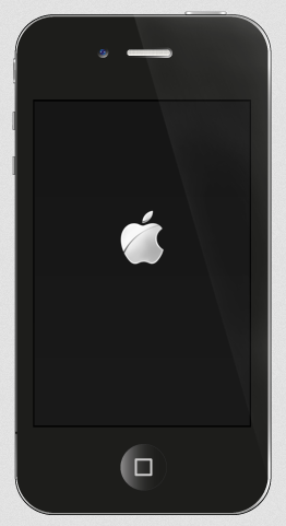 apple logo on iphone screen after restart